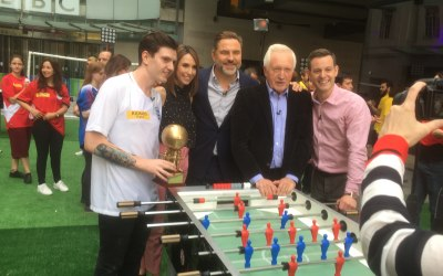 Champfoos provided logistics and consultancy for the BBC One Show World Cup Special