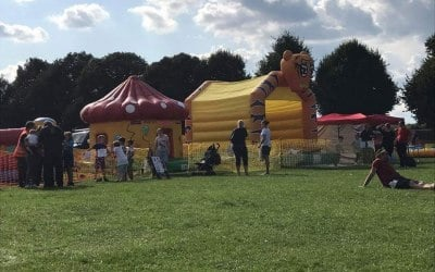 Family inflatable fun day