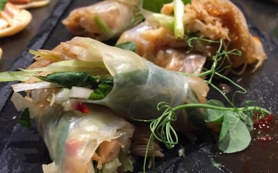 Vietnamese Spring Roll Canapes