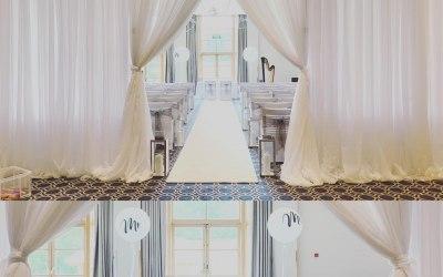 entrance drapes