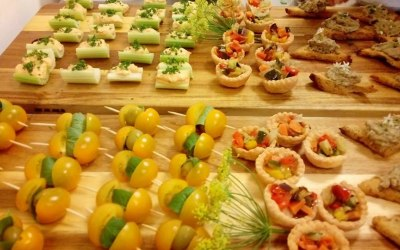 Vegan and gluten free canape selection