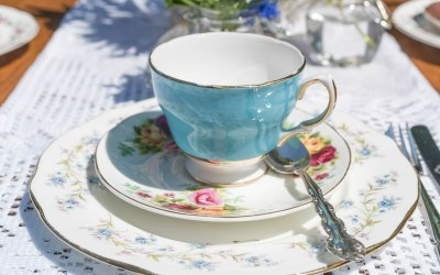 Afternoon Tea with Lace Runner