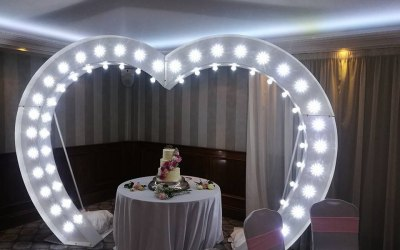 led heart arch