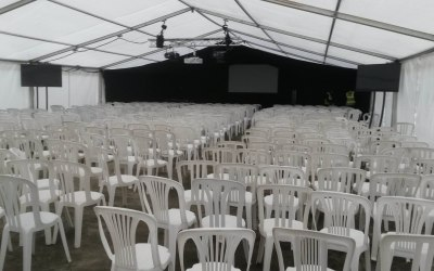 Corporate event marquee Cheshire