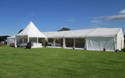 Cheshire wedding marquee