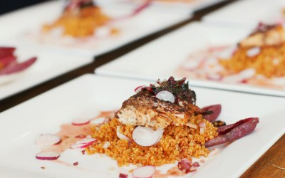 Jollof Quinoa, Salmon with Grains Of Paradise