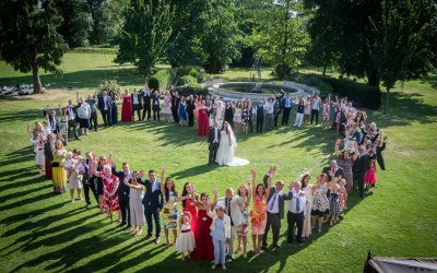 Wedding group heart shape