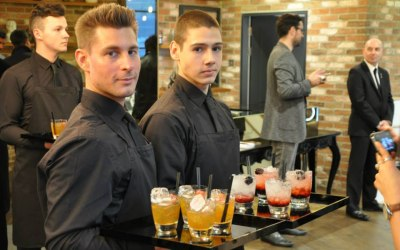 Waiters at a VIP Party