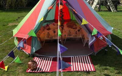Rainbow bell tent hire