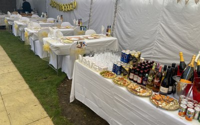 Wedding marque and drinks package