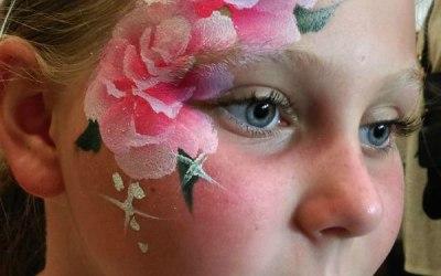 JuliaArts onestroke roses face painting