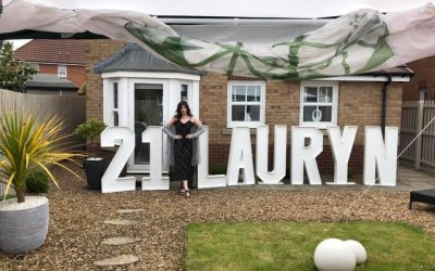 Giant letters for birthdays.