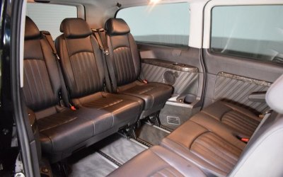 The interia of our 8 seat Merc