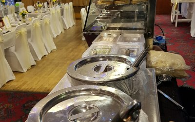 Our simple buffet set up will fit into any location