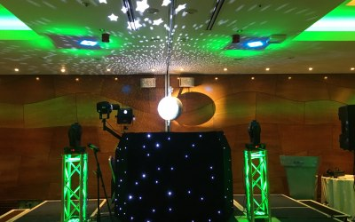 Some of our lighting at a Corporate event