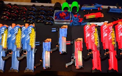 NERF RIVAL, 80 blasters, 6 different types, 6,000 NERF balls