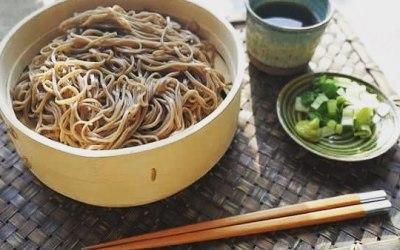 Zaru Soba - cold dipping noodles.