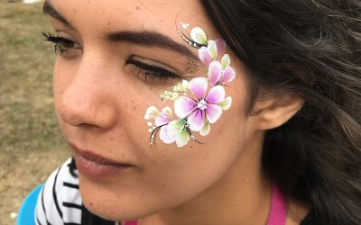 Grown up Flower Face Painting