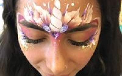 Grown-Up Unicorn Face Paint -  Be a big kid for a night out is what life is all about! :)