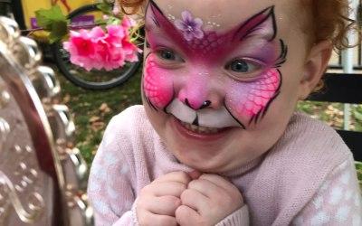Cute Cat Face Painting