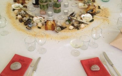 edible seafood table