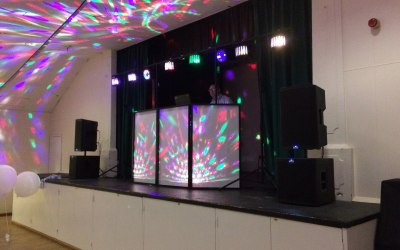 Large stage with additional lighting. PA system is over 3,000W (RMS) but I'm more Quality Vs Quanity