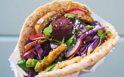Falafel Pockets and Halloumi fries New to our Vegan menu