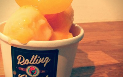 Handmade Peach & Passion Fruit Sorbet