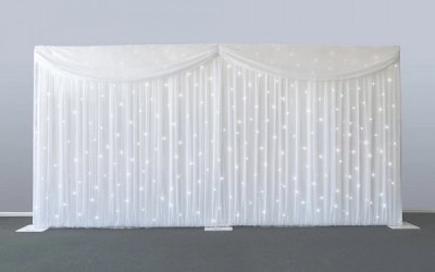 White Starlit backdrop for hire