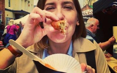 Arancini eating