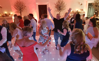 Seaham Hall, Full dance floor and Uplighting