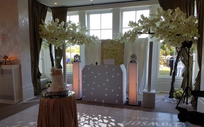 Seaham Hall, Premium White Setup with Custom Heart Gobos