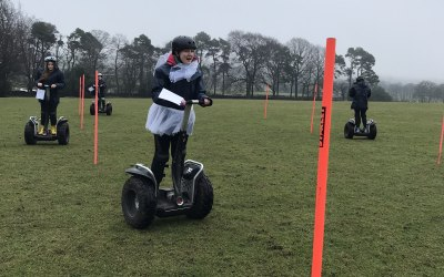Segway egg and spoon race