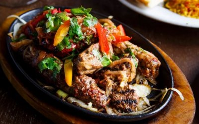 Mixed Grill served sizzling.