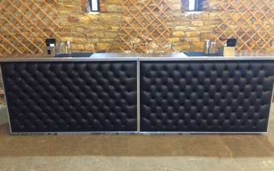 Leather Chesterfield Bar fronts for a classy & elegant look