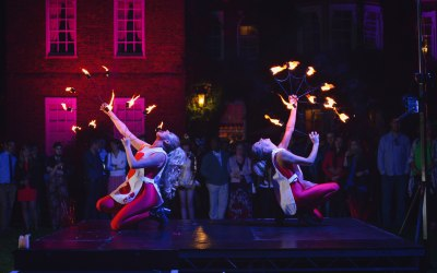 Alice in Wonderland themed fire show