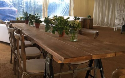 Rustic high seating