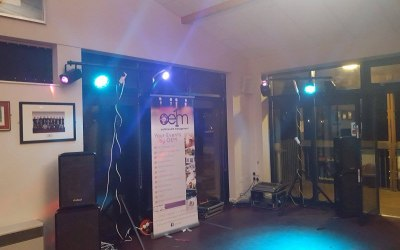 P/A & Disco lighting for 6th form leavers do