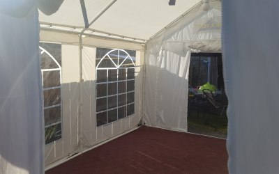 Marquee with flooring