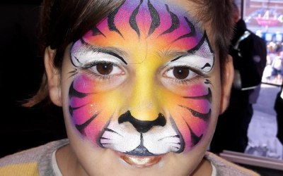 Beauty or the Beast Face Painting 1