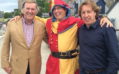 The Conwy Jester with Sir Terry Wogan and Mason McQueen BBC TV Great Food Trip