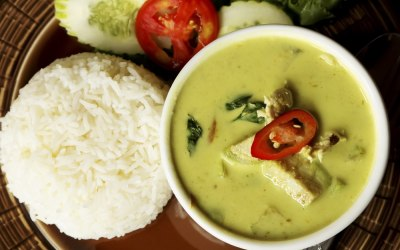 Chicken Green Curry & Jasmine Rice