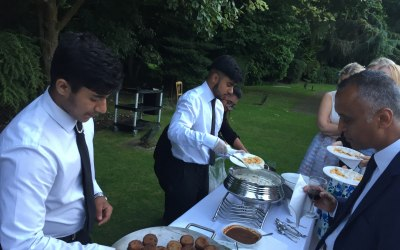 Our team serving Canapès to guests at Dunchurch Park Hotel, Dunchurch