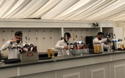 Bar staff serving drinks at Dunchurch Park Hotel, Dunchurch