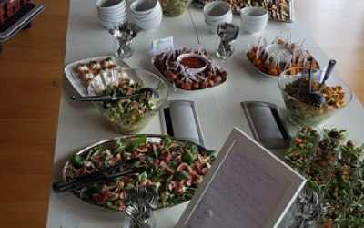 Salad bar and finger buffet corporate lunch