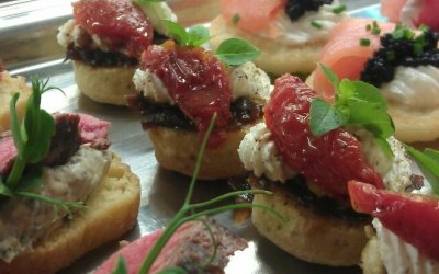 Some of our Canapes for Holyrood Palace