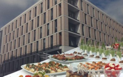 One of our corporate finger buffet lunches
