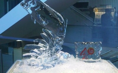 Ice sculpture for a Channel 4 event