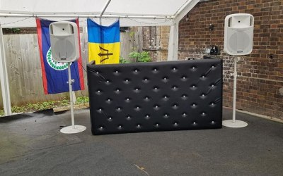 black Chesterfield booth