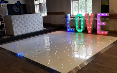 Chesterfield, dance floor and LOVE letters